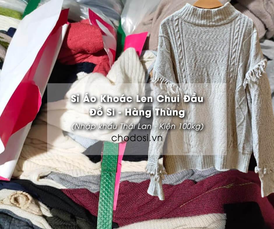 si ao khoac len chui da do si hang thung