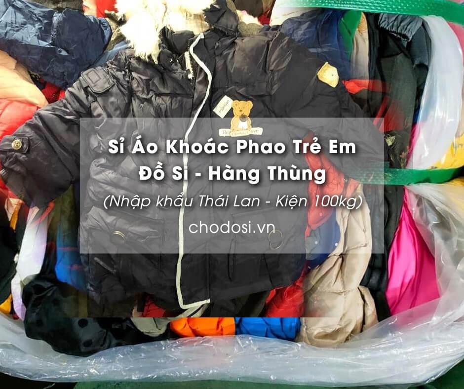 si ao khoac phao tre em do si hang thung